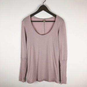 Alternative Pink Long Sleeve T-Shirt Top Medium